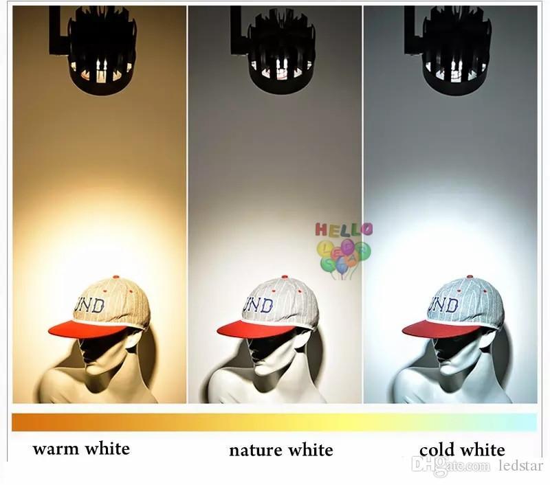 LED COB Parça Işık 20 W 25 w 30 w 40 w Kapalı Aydınlatma Raylı Işıklar Spot Giyim Ayakkabı Mağazası 110 V-240 V Sıcak Doğal Soğuk beyaz