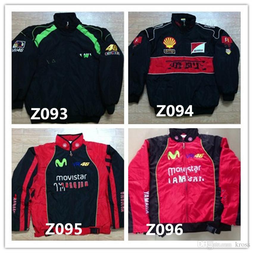 Marque de broderie F1 FIA NASCAR IndyCar V8 Supercar Veste en coton MOTO GP Racing Moto Rider Jacket f1 VESTE MOTO RACING hommes AR14