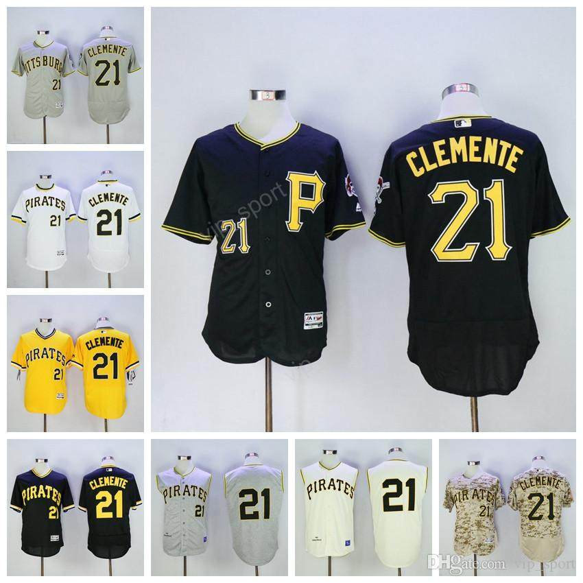 quality design 05b26 0a6d6 pittsburgh pirates 21 roberto clemente black throwback jersey