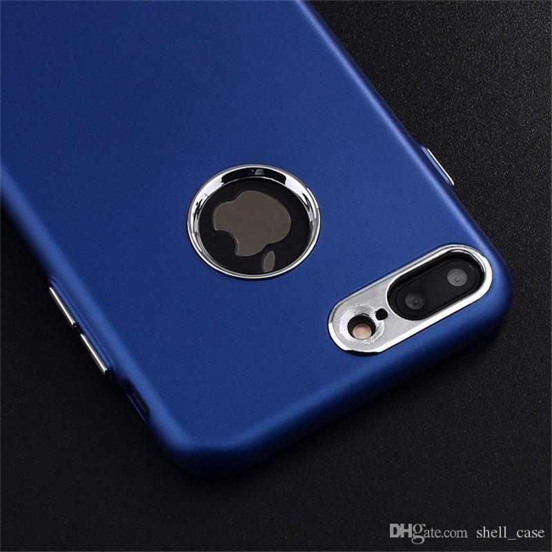 For samsung s8 slim silicone case dull polished Matte foil plated metal button soft TPU cover cases for iphone 6 6s 7 plus samsung s8 plus