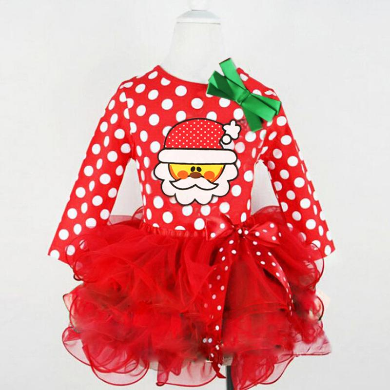 1c5cd4c2b1c Girls dress children clothing Christmas Santa lace bow dresses for girls  kids clothes dresses