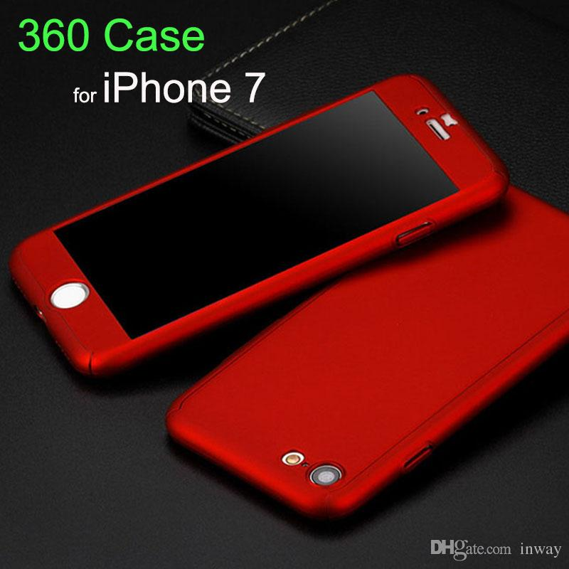 f37bb5ade1267 Ultra Thin 360 Degree Full Body Protective Case Cover With Tempered Glass  Screen Protector For Apple IPhone 6 6S 7 Plus Phone Case Camo Cell Phone  Cases ...