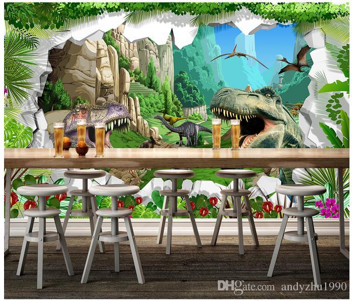 3D photo wallpaper custom size mural non-woven wall ancient dinosaur era icture home decoration mural wall 3D Mural wallpaper