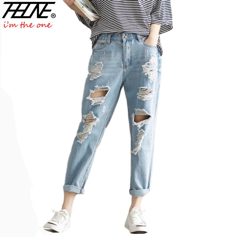 Wholesale 2017 Summer Jeans Pants Women Denim Pants Femme Trousers Big  Holes Slim Fit Plus Size 3XL Loose Boyfriend Ripped Jeans Women UK 2019  From Honhui e893704fef