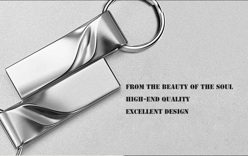 New Metal Key USB Flash Drive Real Capacity 4gb 8gb 16gb 32gb 64gb Waterproof Pen Drive Fashion Thumb USB 2.0 Memory Stick