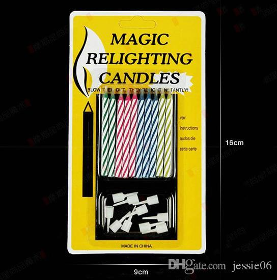 Magic Funny Relighting candle Joke Birthday Party Candele Cake Accessory Christmas Festive Holiday Bomboniere