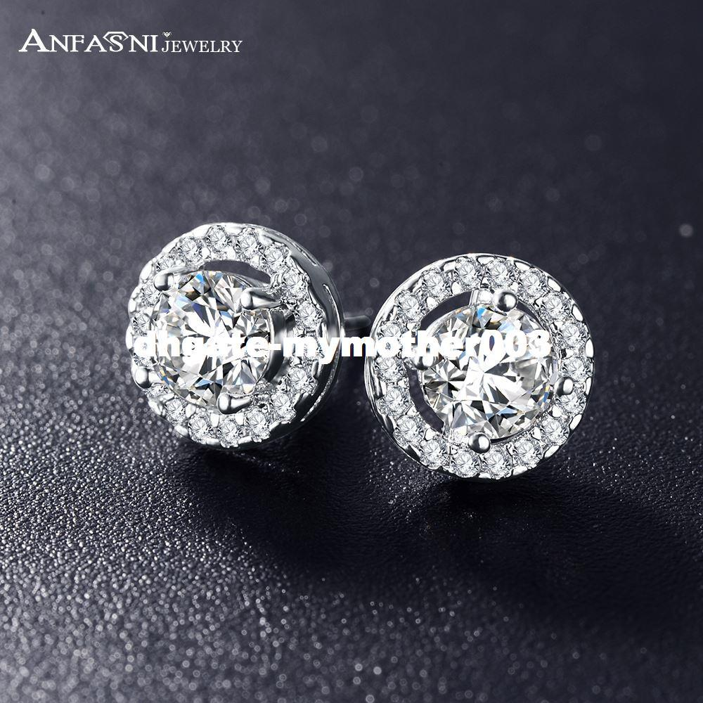 08f4fc57d DHgate Romantic Jewelry 2016 Stud Earrings For Wedding Elegant Silver Color  AAA Cubic Zirconia Stone Earring CER0002-B High Quality Earings Chin China  ...