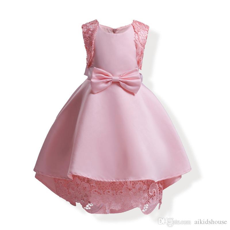 Compre Venta Al Por Mayor Vestidos Para Niñas Bebés Verano De Encaje De Color Rosa Vestido De Ganchillo 2018 Ropa De Los Niños Vestido De Las Niñas