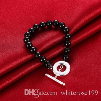Wholesale - Retail lowest price Christmas gift, new 925 silver fashion Bracelet B39