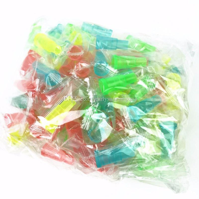 100 adet / torba Renkli Tek Kullanımlık Plasitc Shisha Ağızlık Nargile / Su Boru / Sheesha / Chicha / Narguile Hortum Ağız İpucu