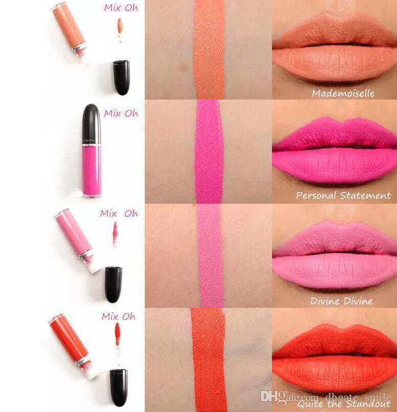 새로운 메이크업 레트로 매트 액체 립 컬러 방수 유약 LipGloss 15 다른 색상 영어 이름 15 개 / 많이