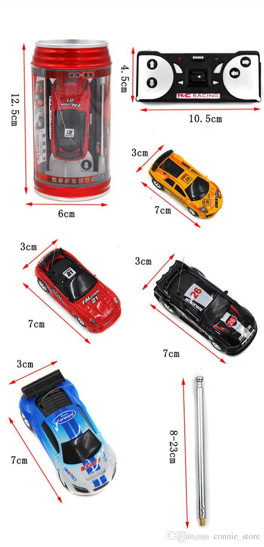 HOT Mini-Racer Remote Control Car Coke Can Mini RC Radio Remote Control Micro Racing 1:64 Car perfect as gift JC116