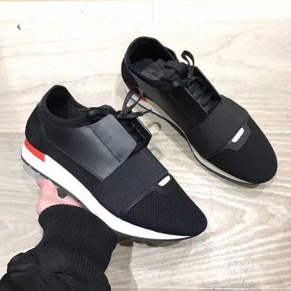 255f283ba1785 Acheter 2018 Nouvelle Boîte D origine Pas Cher Sneaker Paris Nom Marque  Maille Chaussure Décontractée Homme Femme Haute Qualité Basse Coupe Lacets  Course ...