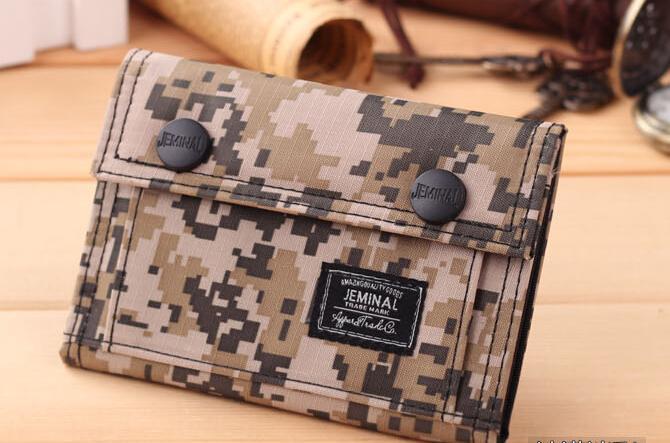 Borsa sportiva degli studenti di moda e tempo libero camouflage borsa di tela portafoglio femminile coreano portafoglio portafoglio uomo marea