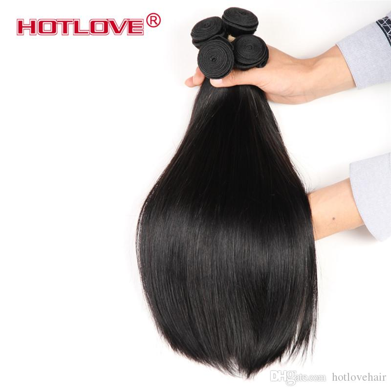 Hotlove Top Quality 8A Silky Straight Human Hair Weave Peruvian Unprocessed Virgin Human Hair Weft 3/