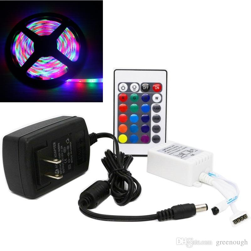 5m flexible rgb led light strip 5m 300leds smd2835 waterproof 5m flexible rgb led light strip 5m 300leds smd2835 waterproof decoration lamp tape lighting with remote controller plug 12v 2a adapter rgb strip lights aloadofball Choice Image