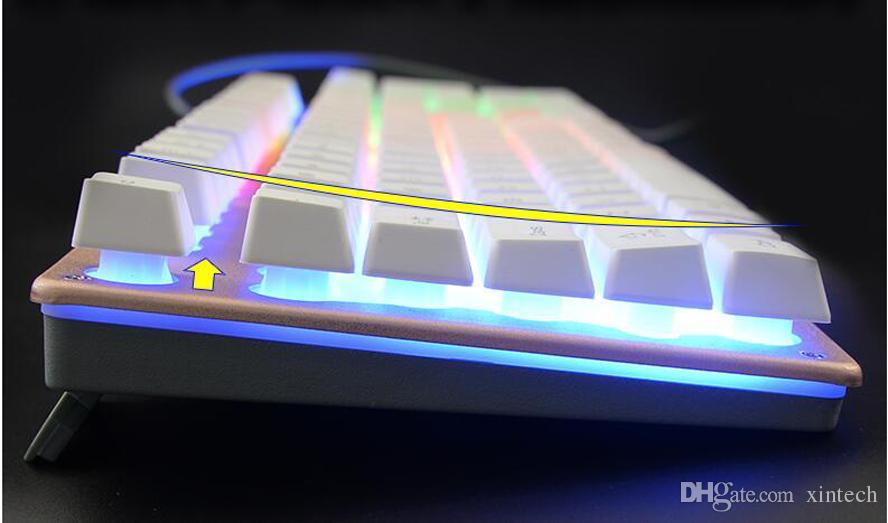Nueva marca USB con cable Teclado óptico Slim Gaming Keyboard y Mouse Kit Retroiluminación Teclado 2400DPI Ratones iluminado Gamers y Pad 3 piezas