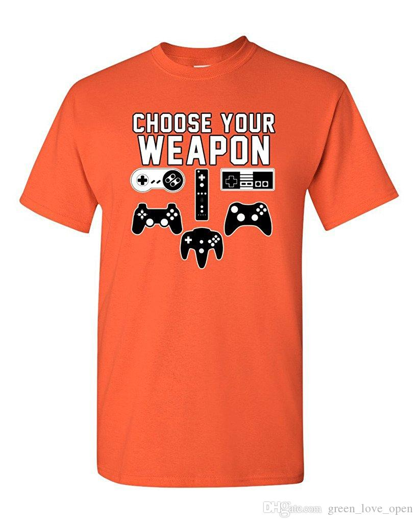 Wählen Sie Ihre Waffe Gaming Console Gamer 2017 Sommer Lustige DT Erwachsene T-Shirt Mode Grafik T-Shirt Streetwear