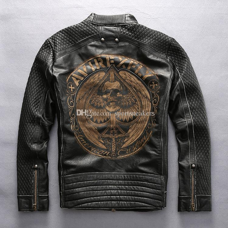 2018 Avirexfly Man Vintage Motorcycle Jacket First Layer