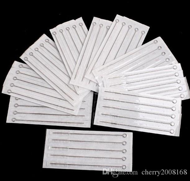 PRO 100 팩 둥근 라이너 1 / 7rl / 11rl / 13rl / 15rl 혼합 된 크기 멸균 문신 바늘 일회용