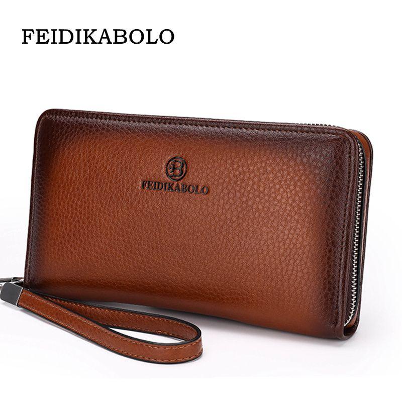 Men s Clutch Wallets Luxury Male Leather Purse Handy Bags Business ... ff8aa0169a622