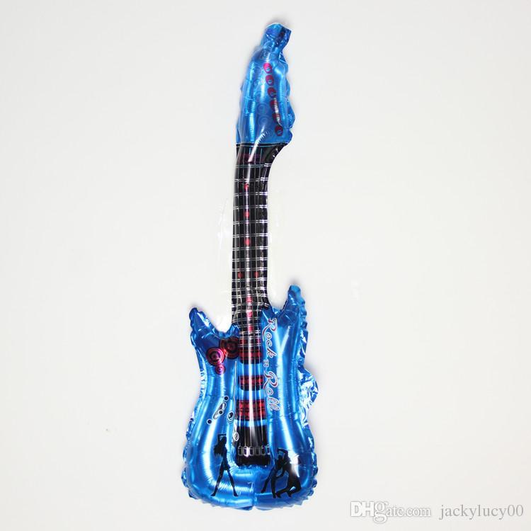Recién llegado de música concierto de la guitarra que anima Stick 83CMX30CM inflable Party Foil Balloon para la decoración del partido DHL forma de envío