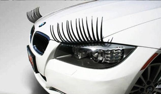 Eyelash 3D Stickers Black PVC 31 cm 3M Glue Car Headlight Fake Eye Brow Eyeliner Personalized Sticker for Mini Cooper snoopy All Cars