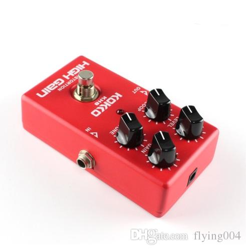 HOT KH8 High Quality Guitar Distortion High Gain Electric Effect Pedal True Bypass Red Durable Guitar Parts & Accessories