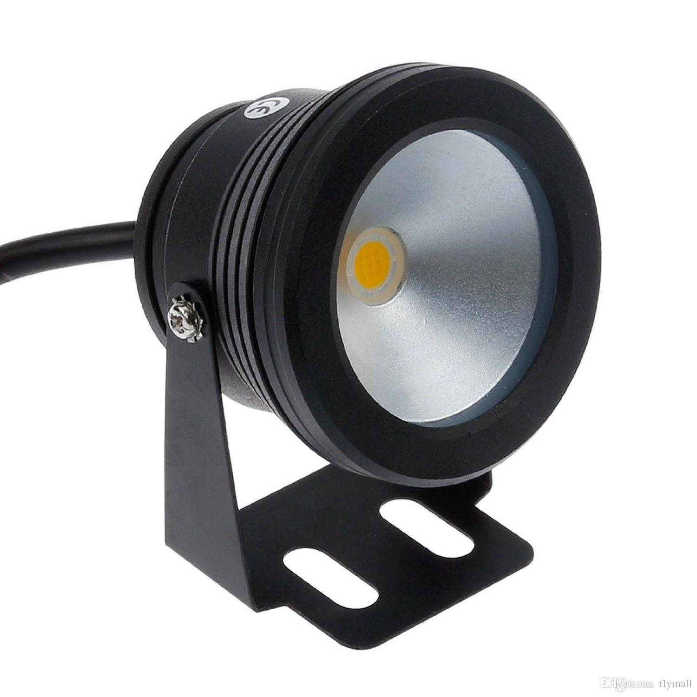 10W Waterproof IP68 LED Underwater Spotlights Flood Light AC DC 12V Lighting Black Silver Cool/Warm White Landscape Fountain Pond Pool Lamp