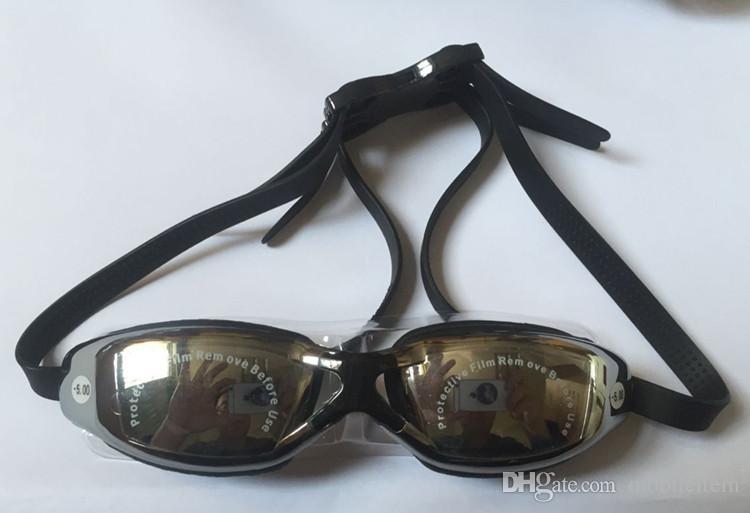 نظارات قصر النظر الرياضات المائية السباحة للماء HD نظارات مكافحة الضباب نظارات السباحة سباق نظارات طلاء قصر النظر ومربع التعبئة 426