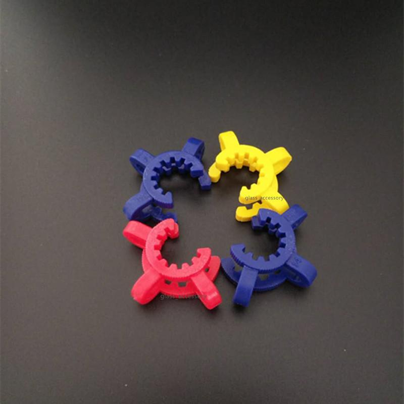 14mm 18mm Plastic Keck Clip Colorful Plastic Keck Laboratory/ Lab Clamp Clip for Glass Bong Glass Adapter Nectar Collector