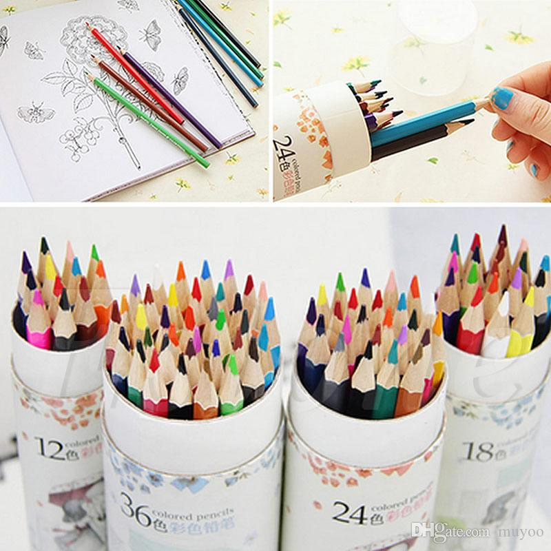 2017 12/18/24/36 Wooden Drawing Pencils Artist Marco Fine Colored ...