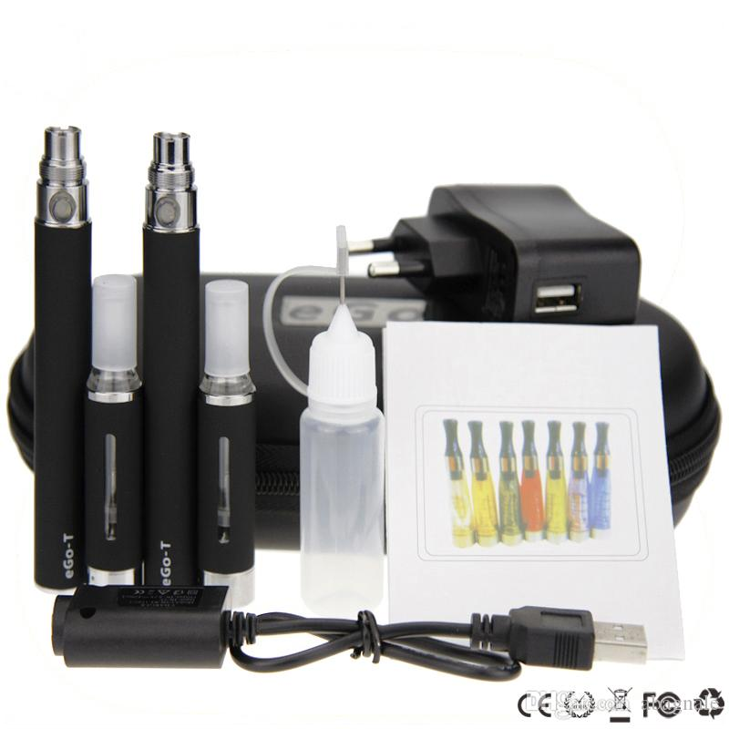 New ego mt3 double kits mt3 ego t large kits double mt3 vaporizer ego t battery 650mah 900mah 1100mah e cigarette zipper kit