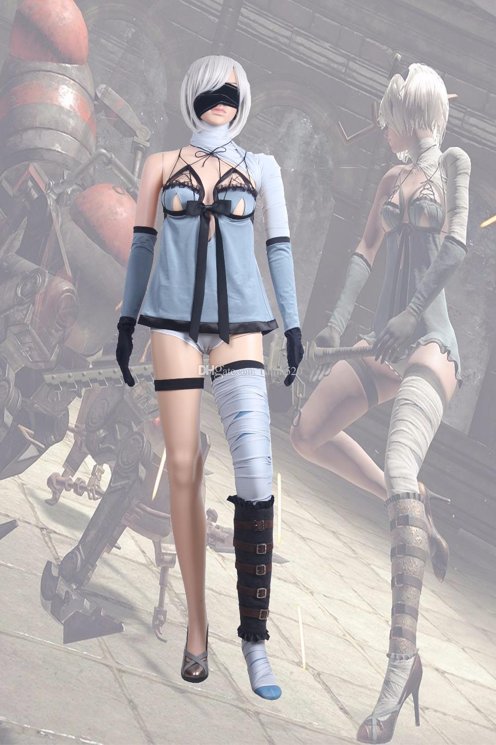 2017 New Game NieR Automata 2B Cosplay Costumes YoRHa No. 2 Type B 2B  Cosplay Adult Full Set Team Halloween Costumes Office Themed Costumes For  Groups From ...