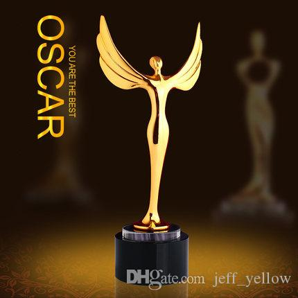 oscar metal trophy small trapeze oscar small gold trophy oscar angel