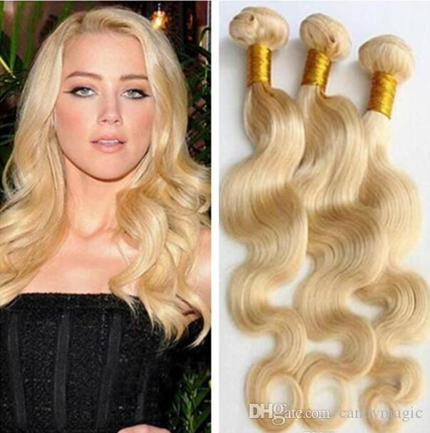 613 blonde hair extension brazilian european human hair body wave 613 blonde hair extension brazilian european human hair body wave hair weft 100g bundle no shedding best curly hair weave best weave for natural hair from pmusecretfo Images