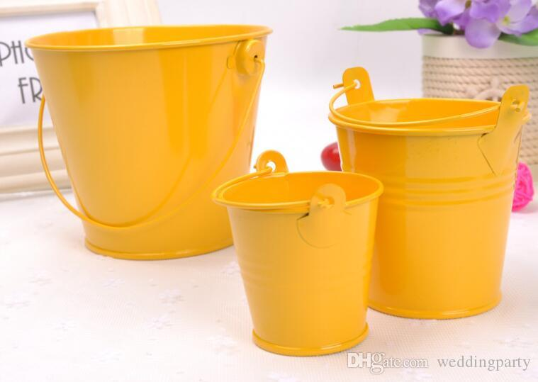 color sólido bid tamaño Venta al por mayor mini latas Cubos oval Cubos de metal Cubo colorido Pequeños Cubos Caja de estaño Favor titular