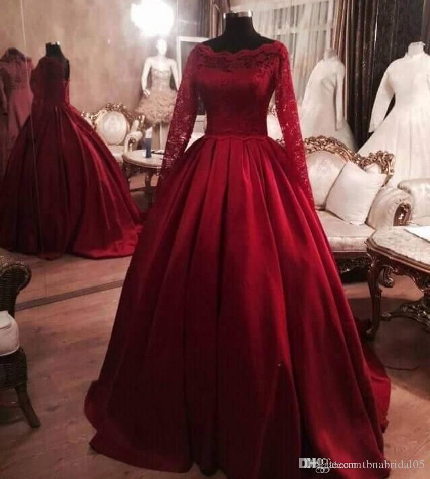 Stunning 2017 Ball Gown Long Sleeves Evening Dresses Plus Size ...