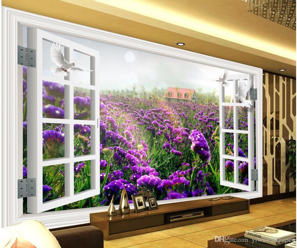 탑 클래식 3D 유럽 스타일 윈도우 밖에 서 벽화 3d 벽지 tv 배경에 대 한 3d 벽 서류