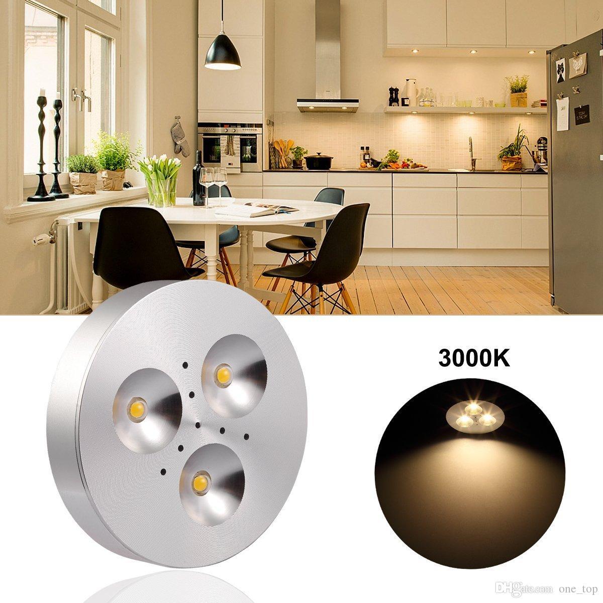 3w Led Under Cabinet Lighting Kitchen Cabinet Lighting Led Wardrobe Light  Warm White 300~330lm Cabinet Lights Ac 85 265v 240v Downlights Large  Downlights ...