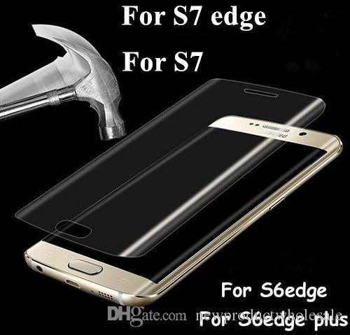 Galaxy S7 edge Full Cover 3D Curved Clear Tempered Glass Film Screen Protector Ultra Thin For Samsung S6 Edge plus with retail box