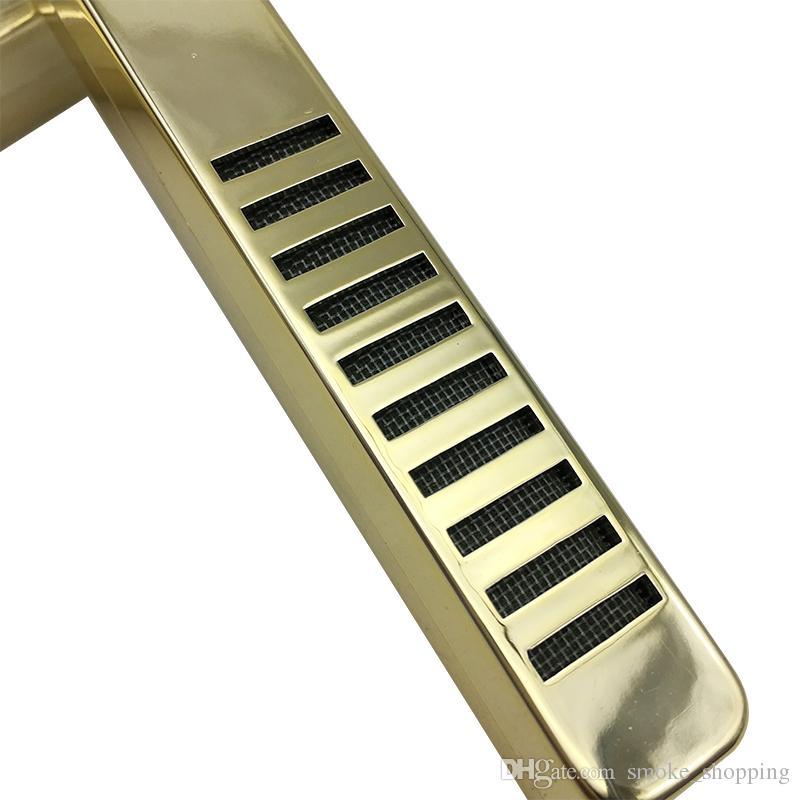 Hot sale golden color white rust steel metal bar type tobacco cigar humidor humidifier cigar humidifier cigar smoke accessories