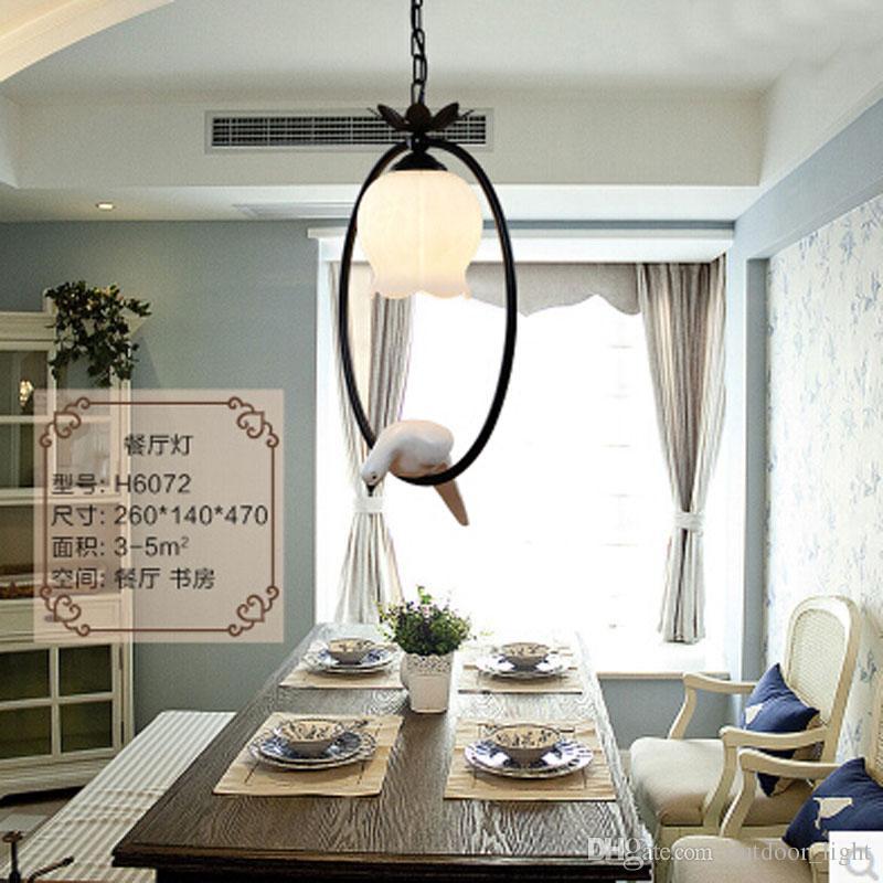 Neue Heiße vintage vogel schlafzimmer lampe LED pendelleuchten Top neuheit  Innenbeleuchtung vogelkäfig licht AC85-265V