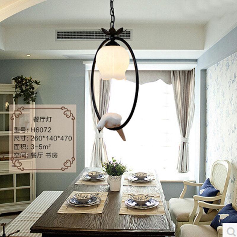 Nuova calda camera da letto vintage uccello luci a sospensione a LED Top  novità indoor Luci birdcage AC85-265V