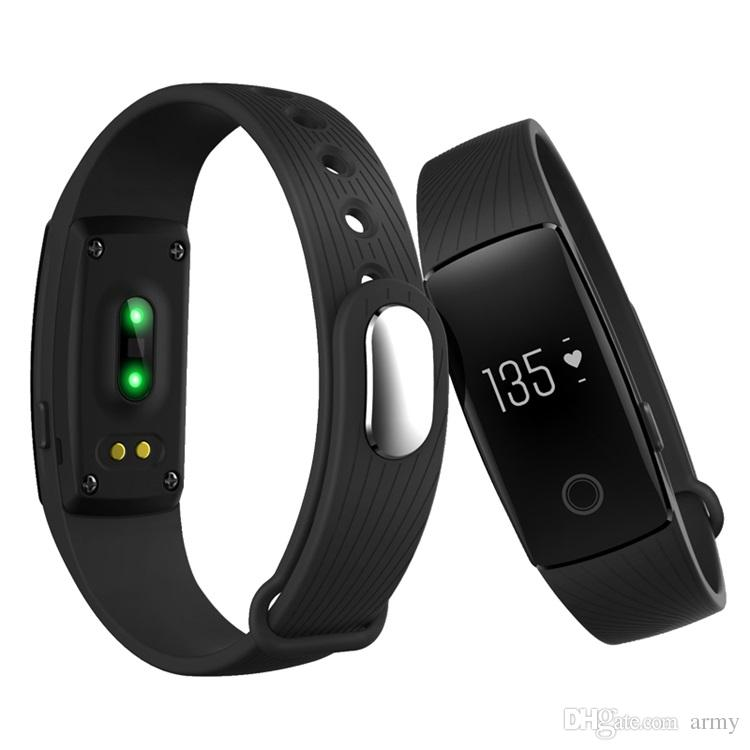 Fitbit Smart Watch ID107 Bluetooth 4.0 Smart Bracelet with Heart Rate Monitor Fitness Tracker Sports Wrist Watches for Android IOS 7.1 Phone