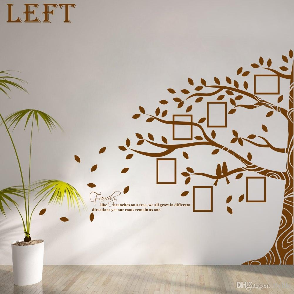 Large vinyl family tree photo frames wall decal sticker vine large vinyl family tree photo frames wall decal sticker vine branch removable wall decor wall stickers for home decoration wall stickers for kids from amipublicfo Gallery