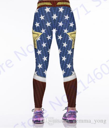 عجب امرأة اليوغا ضغط السراويل طماق اللياقة البدنية مرونة الخصر الأحمر الجوارب الرياضية المرأة زبدة الأزرق رفع البوليستر السراويل