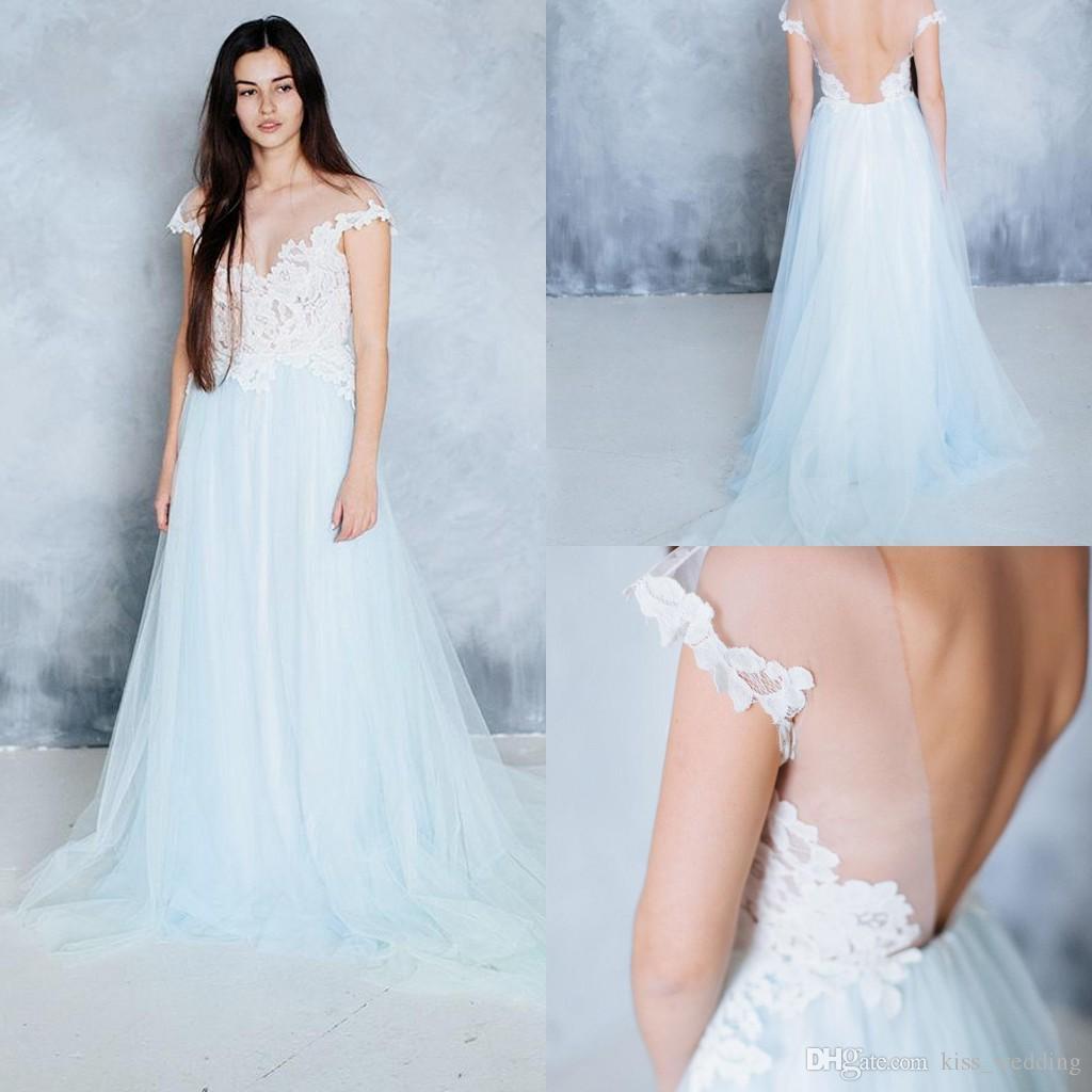 Discount 2017 A Line Elegant Wedding Dress Boho Beach Vestido De ...