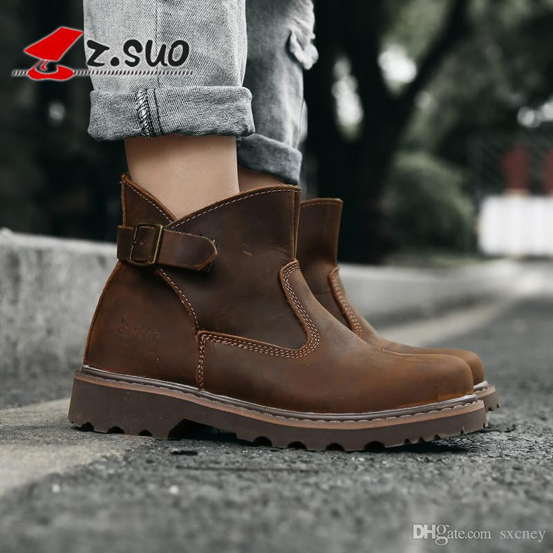 effcb33d139709 Brand Classic Style Woman Work Boots Fashion Buckle Elastic Welt ...
