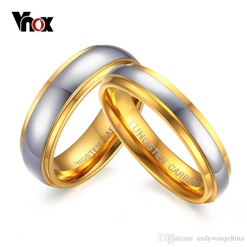 E Wedding Bands.Vnox Jewelry His Her S Polishing Center Step Edge Tungsten